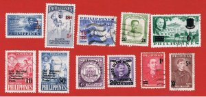Philippines #825//876  VF used Overprints   Free S/H