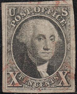 U.S. 2 1847 Used VF 4 Mgn. (81518)