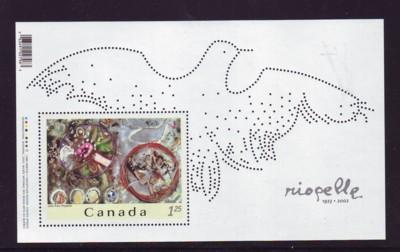 Canada Sc  2003 2003 Riopelle Painting stamp sheet mint NH