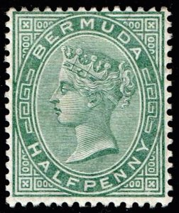 UK STAMP BERMUDA 1884 Queen Victoria 1/2P MH/OG STAMP