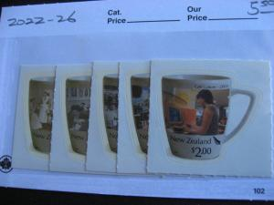 NEW ZEALAND Cafes set Sc 2022-26 MNH