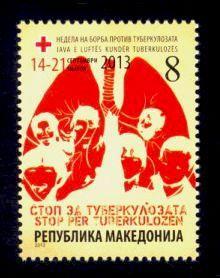 Macedonia Sc# RA165 MNH Campaign Against TB (Postal Tax)