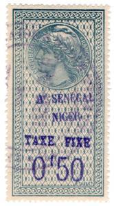(I.B) France Colonial Revenue : Senegal-Niger Duty 50c (Taxe Fixe)