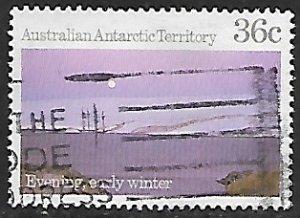 Australian Antarctic Territory # L68 - Winter Evening - Used....(KlBl9)