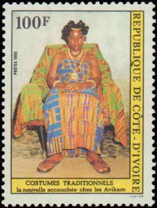 1985 Ivory Coast #736-737, Complete Set(2), Never Hinged