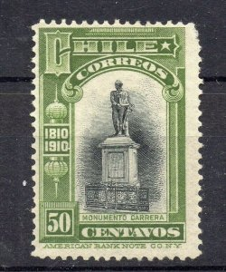 Chile 1910 Centenary Early Issue Mint hinged Shade of 50c. NW-13194