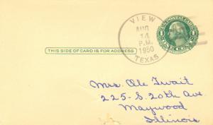 United States Texas View 1950 4f-bar  1910-1973  Postal Card  Philatelic  Sma...