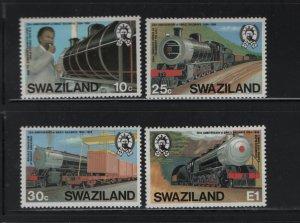 SWAZILAND 461-464 (4) Set, Hinged,1984 Opening Ceremony, Locomotives