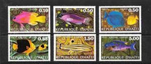 FISH - HAITI #673-74, C399-402