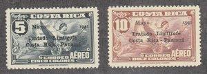 Costa Rica - 1941 - SC C72-73 - H - High values - C72 hinge thin