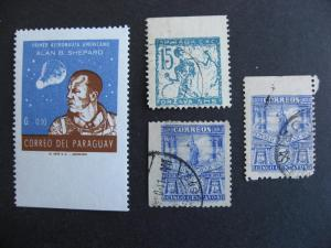Worldwide, 4 stamps each has wide imperf on one side! Mixed condition