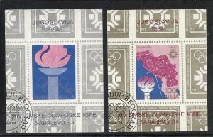 Yugoslavia #1672-3 ss comp used Scott cv $4.15 Olympics
