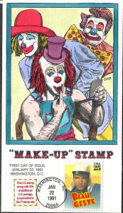 US Collins FDC SC#2521 Make-Up Stamp