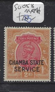 INDIA CHAMBA  (P1412BB)  KGV 2R SERVICE SG O58   MNH