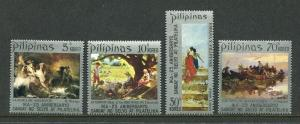 Philippines 1149-1152, MNH, 1972. Paintings, by F. Amorsolo, J. Luna. Vessels