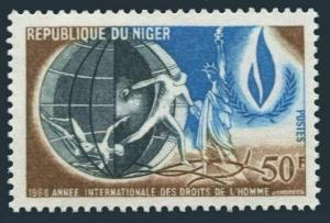 Niger 205 two stamps,MNH.Michel 181. International Human Rights Year IHRY-1968.