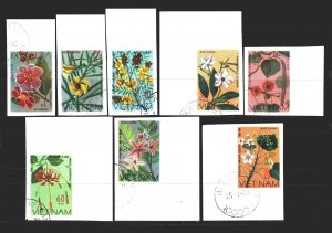 Vietnam. 1977. 919u-26u. Mulberry paper flowers and others. USED.