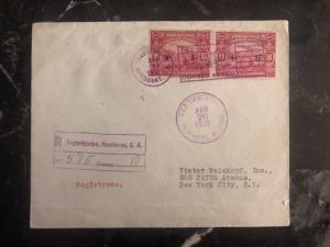 1930 Tegucigalpa Honduras airmail Registered cover to New York USA