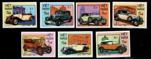 Viet Nam Scott 1561-1567  Unused NGAI Imperforate Automobile set