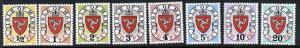 Isle of Man J1-8 MNH Crest, Postage Dues