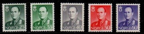 Norway Scott 408-12 Mint NH (Catalog Value $33.75)