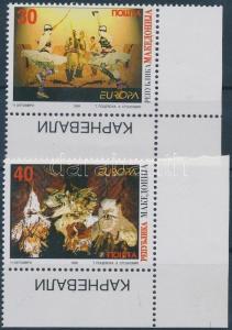Makedonien stamp Europa CEPT corner set MNH 1998 Mi 128-129 WS173112