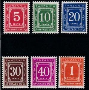 Tanzania 1967 SC J1a-J6a 9 MLH Set