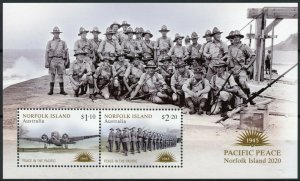 Norfolk Island Military Stamps 2020 MNH WWII WW2 VJ Day Peace in Pacific 2v M/S