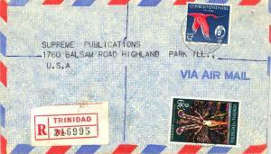 Trinidad 25c QEII Scarlet Ibis and 30c Carnival 1970 Scarborough, Tobago Regi...