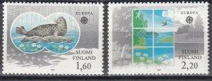 Finland 1986 #735-6 MNH. Environment, Europa