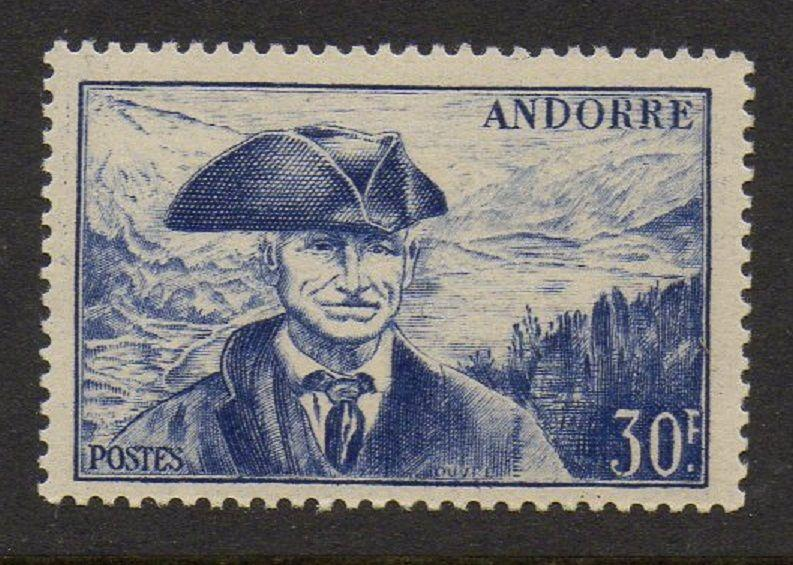 Andorra French 1951 Provost VF MNH (123)