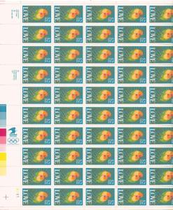 US 2537 - 52¢ Two Birds LOVE Unused