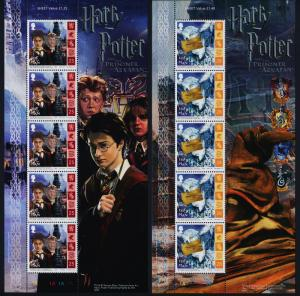 Isle of Man 1074-81 Sheets MNH Harry Potter, The Prisoner of Azkaban