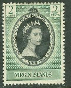 Virgin Is #  114 Elizabeth II Coronation  (1) Unused