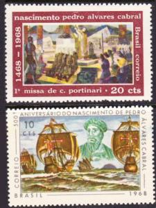 Brazil #1080-81 MH complete - voyage of Cabral