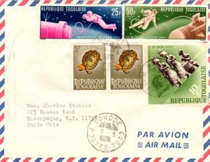 Togo 5F Hinged Tortoise (2), 10F New York World's Fair Diamond, and 25F and 5...