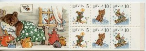 LATVIA BEARS SCOTT#391A   COMPLETE UNEXPLODED BOOKLET  MINT NH