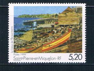 St Pierre and Miquelon 677 MNH Painting Fishing 1999 (S0960)+