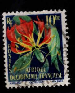 FRENCH West Africa Scitt 79 Used flower stamp