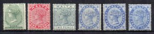 Malta 1885-90 values to 2 1/2d MLH