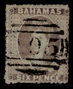 BAHAMAS QV SG6a, 6d pale dull lilac, USED. Cat £500.