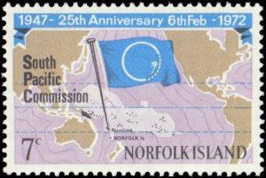 Norfolk Islands #149, Complete Set, 1972, Flags, Never Hinged