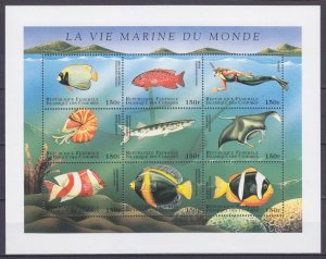 1998 Comoro Islands 1228-36KL Sea fauna 6,50 €