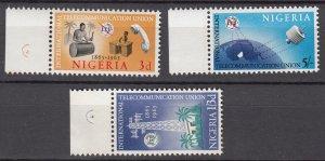 J27619 1965 nigeria set mnh #175-7 ITU emblem