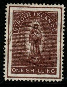 VIRGIN ISLANDS SG41 1887 1/= BROWN FINE USED