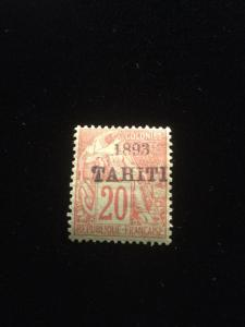 Tahiti Scott #23 Scarce Mint Hinged Stamp!