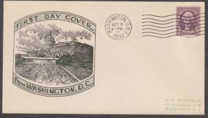 #722 DC CANCEL FDC CACHET BY 6489