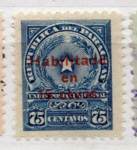 Paraguay 1926-27 Early Issue Fine Mint Hinged 15c. Surcharged Optd 282677