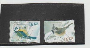 Norway  Scott#  1757-8  Used  (2015 Birds)