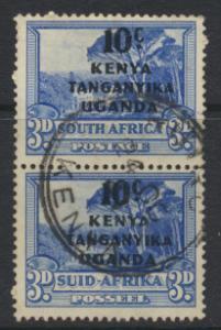 South Africa Opt Kenya Uganda Tanganyika KUT Used pair - SG152 SC#87 - see de...